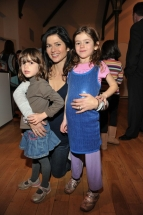 Actress Jacqueline Hennessy with daughters Mia and Evie
