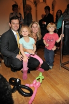 Cam Sievert with wife Jennifer Bassett of Bassett events with children Mackenzie and Will